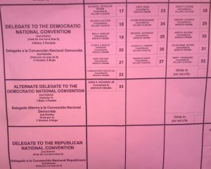 PA Sample Ballot (Delegates), 2008 Primary