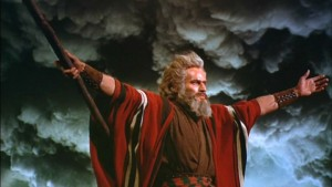 Charlton Heston as Moses in \