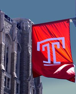 Temple University banner